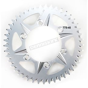Vortex 45 Tooth Aluminum Silver Rear Sprocket - 775-45