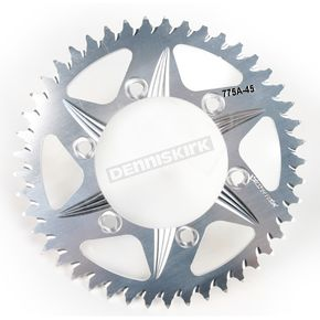 Vortex 45 Tooth Silver Aluminum Rear Sprocket - 775A-45