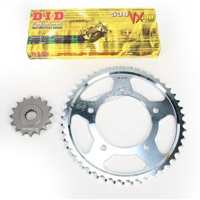 DID X-Ring Chain and Sprocket Kit - 530 Conversion - DKY-002