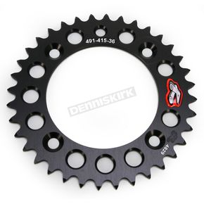 Renthal Black Rear Sprocket - 49141536PBK