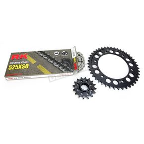 RK Natural Honda 525XSO Chain and Sprocket Kit - 1062-030E