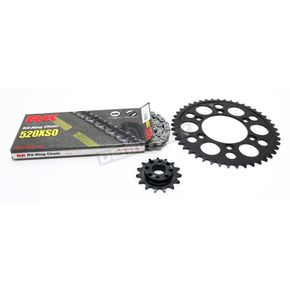 RK Natural Ducati 520XSO Chain and Sprocket Kit  - 6061-080E