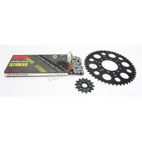 RK Natural Kawasaki 520XSO Quick Acceleration Chain with Steel Sprocket - 2062-109P