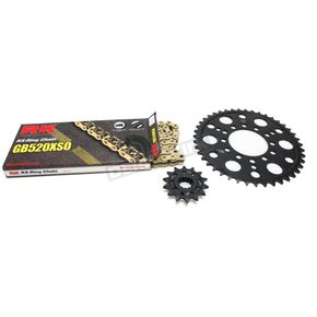 RK Natural Kawasaki 520XSO Quick Acceleration Chain with Steel Sprocket - 2068-059P