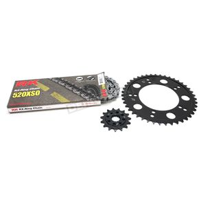RK Natural Suzuki 520XSO Quick Acceleration Chain with Steel Sprocket - 3066-069P