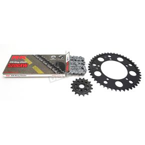 RK Natural Suzuki 520GXW Quick Acceleration Chain with Steel Sprocket  - 3076-069P