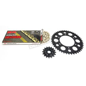 RK Gold Suzuki GB520GXW Acceleration Chain with Steel Sprocket - 3076-119PG