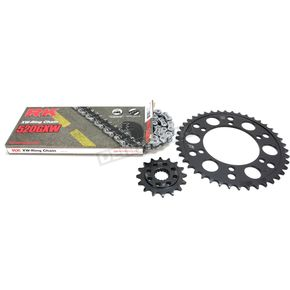 RK Gold Suzuki GB520GXW Acceleration Chain with Steel Sprocket - 3106-099PG