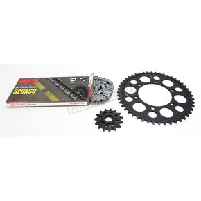 RK Natural Yamaha 520XSO Quick Acceleration Chain with Steel Sprocket - 4067-039P