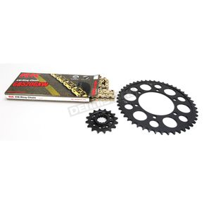 RK Gold Yamaha GB520GXW Acceleration Chain with Steel Sprocket - 4107-099PG