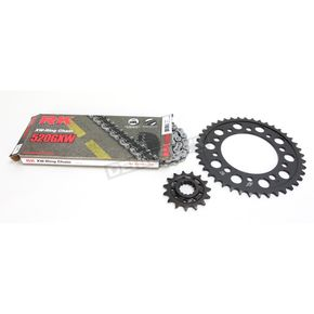 RK Gold Yamaha 520GXW Quick Acceleration Chain with Steel Sprocket  - 4107-159PG