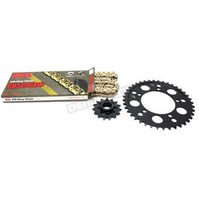 RK Gold Aprilia GB520GXW Acceleration Chain with Steel Sprocket - 8101-119PG