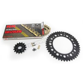 RK Gold Honda GB520GXW Chain and Sprocket Race Kit  - 1102-088DG