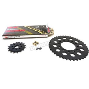 RK Gold Kawasaki GB520GXW Chain and Sprocket Race Kit  - 2108-118DG