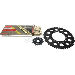 RK Gold Yamaha GB520GXW Chain and Sprocket Race Kit  - 4107-098DG