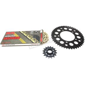 RK Gold BMW GB520GXW Chain and Sprocket Race Kit  - 9101-128DG