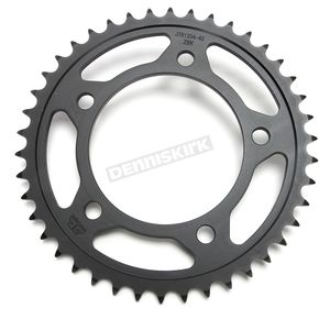 JT Sprockets Induction Hardened Black Zinc Finished 525 42 Tooth Rear Sprocket - JTR1304.42ZB