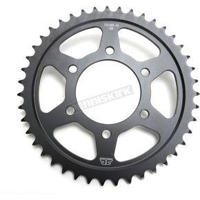 JT Sprockets Induction Hardened Black Zinc Finished 43 Tooth Rear Sprocket - JTR1489.43ZB