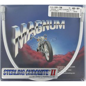 Magnum Custom Sterling Chromite II Designer Series Universal Braided Brake Line - 3517