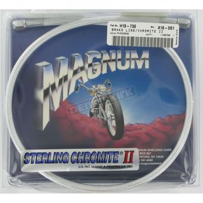 Magnum Custom Sterling Chromite II Designer Series Universal Braided Brake Line