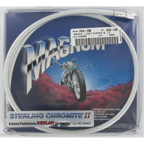 Magnum Custom Sterling Chromite II Designer Series Universal Braided Brake Line - 3536