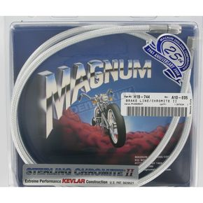 Magnum Custom Sterling Chromite II Designer Series Universal Braided Brake Line - 3547