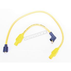 Sumax Yellow 8mm Pro Spark Plug Wires w/180 Degree Boot - 77433