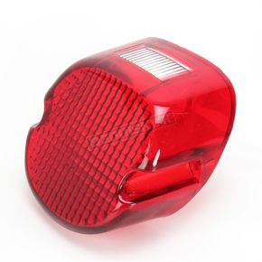 Drag Specialties Laydown Red Taillight Lens w/Top Tag Window - DS-272036