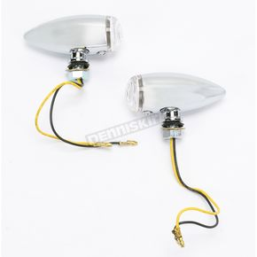 Drag Specialties Smooth Marker Light w/Clear Lens and Amber LED - 7805-2068