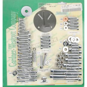Gardner Westcott Polished Chrome Steel Socket Head Motor Bolt Kit - P-80-86