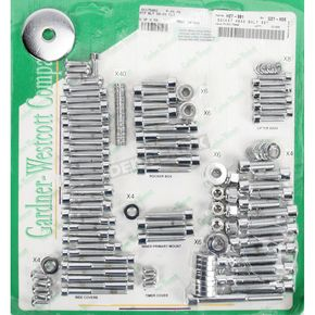 Polished Chrome Motor Bolt Kit - P-88-98
