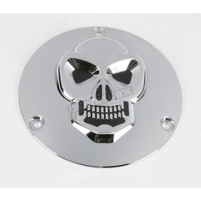 Drag Specialties 3-D Skull Derby Cover - 1902-0062