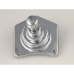 Custom Cycle Engineering Chrome Solenoid End Cover/Starter Button-1.2/1.4 Starter - SHS99001