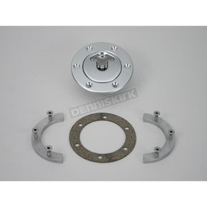 Custom Cycle 2 1/4 in. Vented Flush Mount Gas Cap w/Bolt-In Aluminum Locking Bung - CCE9530VB