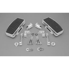 Custom Chrome Adjustable Shaker Style Passenger Mini Floorboard Kit - 09904