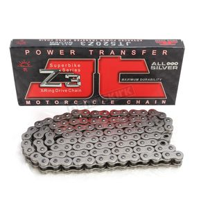 JT Sprockets Z3 Super Heavy Duty 520 Nickel/Nickel X-Ring Chain - JTC520Z3NN106RL
