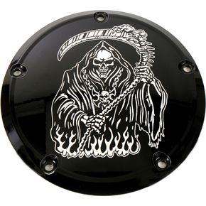 Black Grim Reaper Derby Cover - SKUL18-12BG