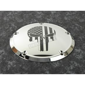 Chrome Black Stars and Stripes Punisher Derby Cover - PATR22-12