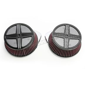 Baron Custom Accessories Black XXX Air Cleaner Assembly - BA-2381-00B