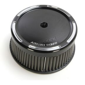 Arlen Ness Black Big Sucker Stage 1 Air Filter Kit w/Slot Track Cover - 50-836