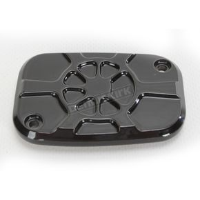 LA Choppers Decadent Black Powdercoat Brake Master Cylinder Cover - LA-F550-00B