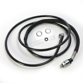 Drag Specialties Black Vinyl Hydraulic Clutch Line +12 in. - 0661-0020