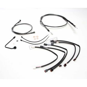 Magnum Black Pearl Designer Series Handlebar Installation Kit for use w/15 in.-17 in. Ape Hangers w/ABS - 487792