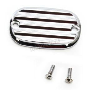 Joker Machine Chrome Finned Rear Brake Master Cylinder Cover - 08-01FN