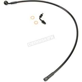 Black XR Stainless Extreme Response DOT Upper Brake Line +4 - SBB1507-26