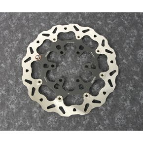 Front Aluminium Floating Wave Rotor w/Holes - DF940CW