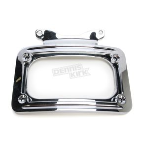 V-Factor Chrome Curved License Plate Frame - 13124