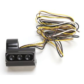 Performance Machine Black Left Side Housing 3-Button Contour Billet Switch Assembly - 0062-2035-B