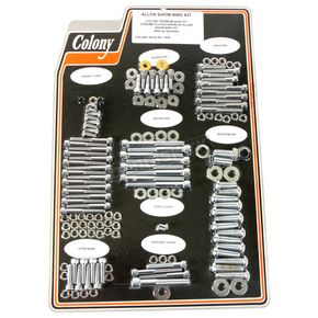 Chrome Knurled Allen Show Bike Bolt Kit - 1022