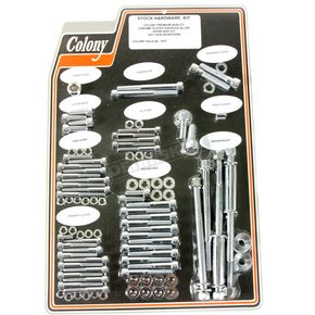Chrome Knurled Allen Show Bike Bolt Kit - 1017